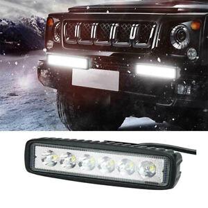 18W 6inch LED Work Light Bar Lampe d'inondation Offroad Driving Brouillard 4WW1F