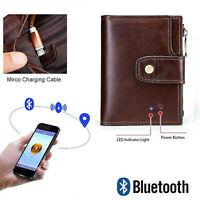 Leather bluetooth Smart Wallet Anti Lost Finder GPS Tracker Men Purse New