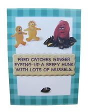 Fred & Ginger Hunk with Muscles Joke BLANK card by Great British card company