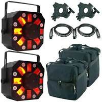 American DJ Stinger LED 3-in-1 Moonflower/Strobe/Laser Effect + Case 2PK