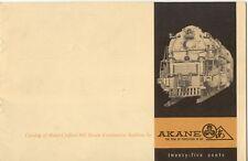 catalogo AKANE MODELS 1962 Hand-Crafted HO USA Steam Locomotives Fulgurex  E  aa
