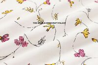 Floral Printed Cotton Dressmaking Supply Fabric 44 Wide Sewing By The 5 Yard""