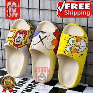 2021 Summer Slides Breathable Beach Printed Sandals Flip Flops Mouth Women Girls