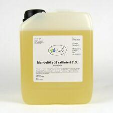 (9,20/L) Sala Mandelöl süß raffiniert Ph. Eur. Mandel Öl Massageöl Basisöl 2,5L