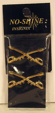 Us Army Officer Calvary Collar Branch Shiny  00004000 Insignia Pin Pair New Packaged