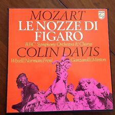 MOZART: Le Nozze Di Figaro, Colin Davis, 4 LP Box Set Philips Import NM/EX