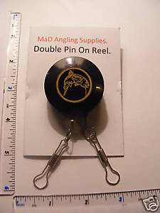 Large Plastic DOUBLE PIN ON REEL for Fly, Coarse, Carp, Sea Fishing