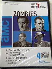 MonsterFest Zombies 4 Movies on 2 DVD's (OOP) - **Factory Sealed New DVD**