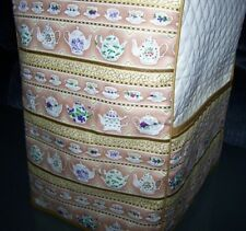 Golden Teapots Teacups Quilted Fabric Cover for KitchenAid Mixer NEW
