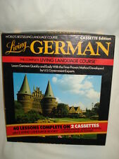 Living German Audio Set of 2 Cassette Tape with 2 Living Language Books