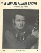 David Houston A Woman Always Knows Photo Sheet Music 1970