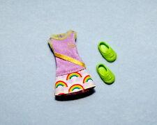 SPORTY! Purple - Green Trim & Rainbow Pattern Tennis Dress KELLY Outfit - BARBIE