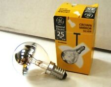 25w Chrome Mirror Golf Ball Bulbs SES Small Screw fitting - Pack of 4