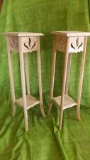 Pareja de SOPORTES JARDINERA de madera, muy decorativos, 90 cms. de alto