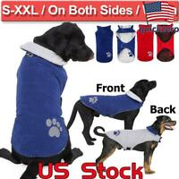 Pets Warm Fluffy Coats And Jackets Dog Winter Jacket Windproof Pet Apparel Vest