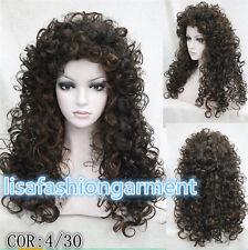 2017 Ladies Long Curly wig w/ Tight Curls Wig in Fox red/Brown/Blonde Wigs
