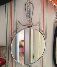 Joli miroir barbier rond forme tête de chat   miroir au design vintage