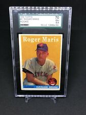 1958 Topps Roger Maris Rookie SGC 70 EX+ 5.5 Yankees Indians