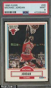 1990 Fleer #26 Michael Jordan Chicago Bulls HOF PSA 9 MINT