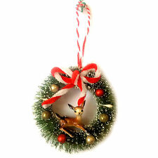 Bambi Ciervo Kitsch Estilo Vintage Árbol De Navidad Decoración Ornamento Corona