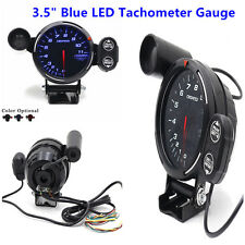 "12V 3.5"" LED Tachometer Gauge Auto Meter With Shift Light+Stepping Motor RPM Kit"