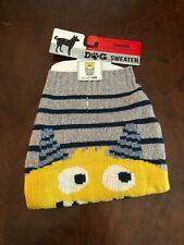 Dog Sweater Size Small NEW Gray White, Black and Yellow