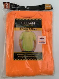 Gildan 2-Pack Men's Workwear Short Sleeve High Visibility Crew size M