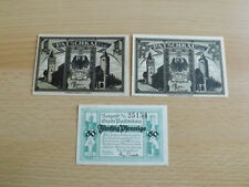 *Notgeld Patschkau in Schlesien 50-75 Pfennig + 1 Mark  *(Alb3)