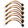 5pcs 4 Pin IDE to 2 Serial ATA SATA Y Splitter Hard Drive Power Adapter Cable