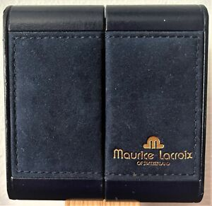 """⌚ Vintage """" MAURICE LACROIX """" Suicide Door Presentation Box with Papers & Link ⌚"""