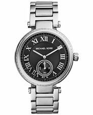 NEW MICHAEL KORS SKYLAR SILVER SWAROVSKI GLITZ LADIES WOMEN'S WATCH BOX MK6053