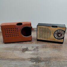Spica Transistor Six radio (black w/ brown case)