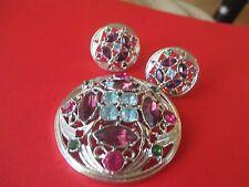 Sarah Cov Spring time brooch earrings costume purple blue pink rhinestone--8
