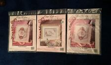 "THREE Pkgs, TRUE COLORS Ribbon Embroidery, 2 ""M""'s, ""Bless This Home"" New in PKG"