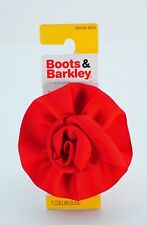 Boots & Barkley Red Flower Dog Collar Slide On Pet Accessories Blooming Flower