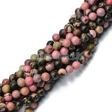 6mm Jewelry Making Craft Round Rhodonite Gemstone Bead Strand 15''