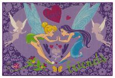 Spielteppich Tinkerbell Disney Teppich Feen Mädchen violett 95x133cm