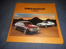 1980 Dodge Omni Original Color Brochure Catalog Prospekt