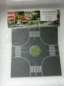 """BUSCH n or z scale self adhesive """"roundabout"""" roadway #1102 new"""