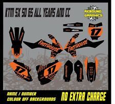KTM SX 50 65 MOTORCROSS Graphics Kit-Decals-Sticker Kit-MX- all years