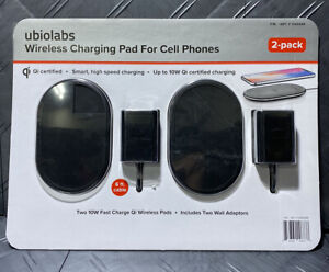Ubiolabs Wireless Charging Pad For Mobile Phones (2 Pack)