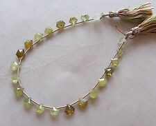 "8"" Strand Grossular Green Garnet Gemstone Small Faceted Triangle Briolette Beads"