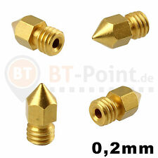 0.2mm Extruder Düse Nozzle 1.75mm Filament RepRap CNC 3D Drucker Makerbot MK8