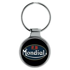 FB Mondial Motorcycle Rider Fans Key Chain Ring A-9702