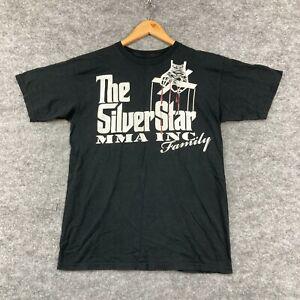 Silver Star MMA T-Shirt Mens Size Medium Black Short Sleeve Crew Neck 174.06