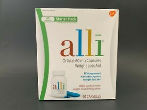 Alli Orlistat Weight Loss Aid 60 Capsules, Brand NEW,  EXP:03/2023,  #038