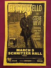 ELVIS COSTELLO Original Concert Poster Gig Flyer Portland