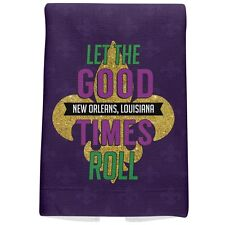 Mardi Gras Let the Good Times Roll All Over Hand Towel
