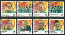 AUSTRALIA 2016 RIO OLYMPIC GAMES GOLD MEDAL WINNERS Complete Set of 8 MNH