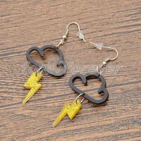 Acrylic Cute Cloud Lightning Earrings Women Funny Drop Punk Dangle Jewelry